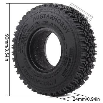 INJORA 4Pcs 1.55 Soft Rubber Terrain Wheel Tires for RC Crawler Car MST JIMNY Axial AX90069 D90 TF2 Tamiya CC01 LC70 2