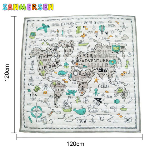 engatinhando tapete nautico mapa game pad criancas