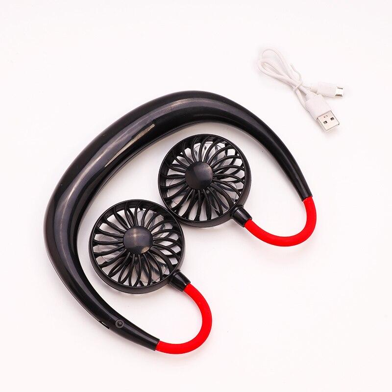Ajustável 7 folha mini usb recarregável ventilador portátil pescoço esporte ventilador neckband mesa mão condicionador de ar para sala dropship|Vent.|   - AliExpress