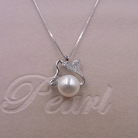 Sinya natural freshwater pearls pendant necklace in 925 sterling silver high quality biggest promotion for women