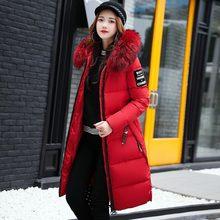 YICIYA Winter jacket women high quality down coat female long slim solid color Jackets zip fur collar Jacket