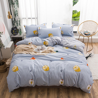 Thumbedding King Size Bedding Set Fruits Creative Fashionable Duvet Cover Grey Queen Full Twin Single Unique Design Bed Set