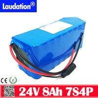 24V Elektrische Fahrrad Lithium-Ionen Batterie (Built-in BMS )7S4P 8Ah 18650 24V batterie Pack für 250W 350W Rollstuhl Motor E-bike