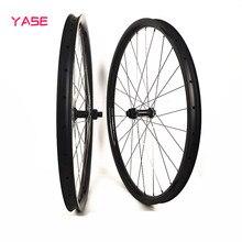 Tremendous mild 27.5er Hookless mtb bike carbon wheels titanium alloy spokes 27x25mm tubeless DT 180S increase MTB Disc Brake Wheelset