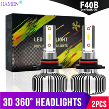JIAMEN Super Brightness CSP LED Headlight Bulbs Turbo H1 H4 H7 H11 H13 H27 HB1 HB3 HB4 HB5 9004 9005 9006 9007 Car Headlamp