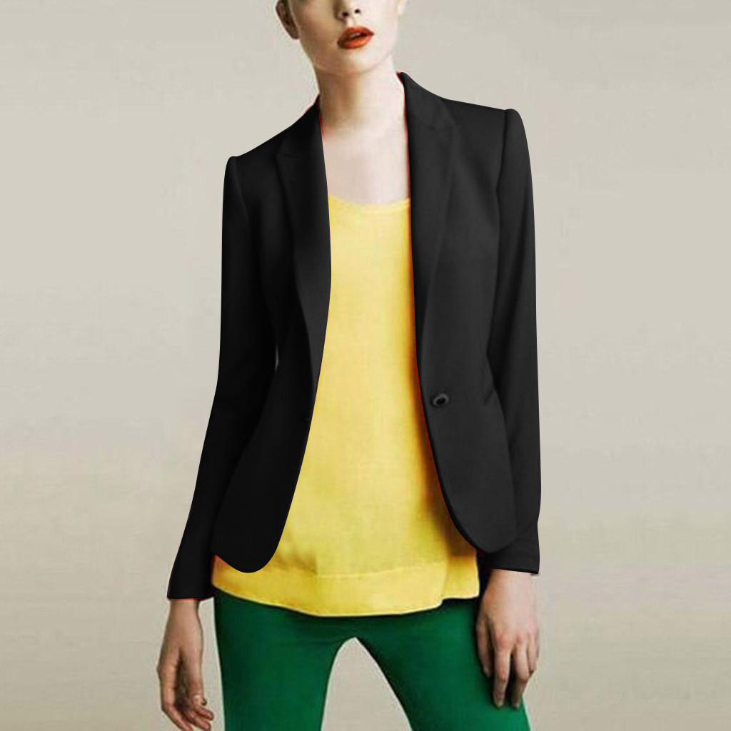 JAYCOSIN women chic blazer Thin long sleeve office wear coat solid female Slim Cardigan casual outerwear tops 9823