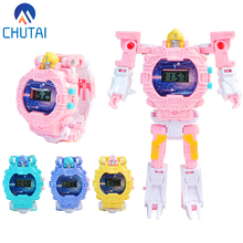 Deformed Watch Puzzle Robot Plastic Electronic Display Table Educational Toys Br