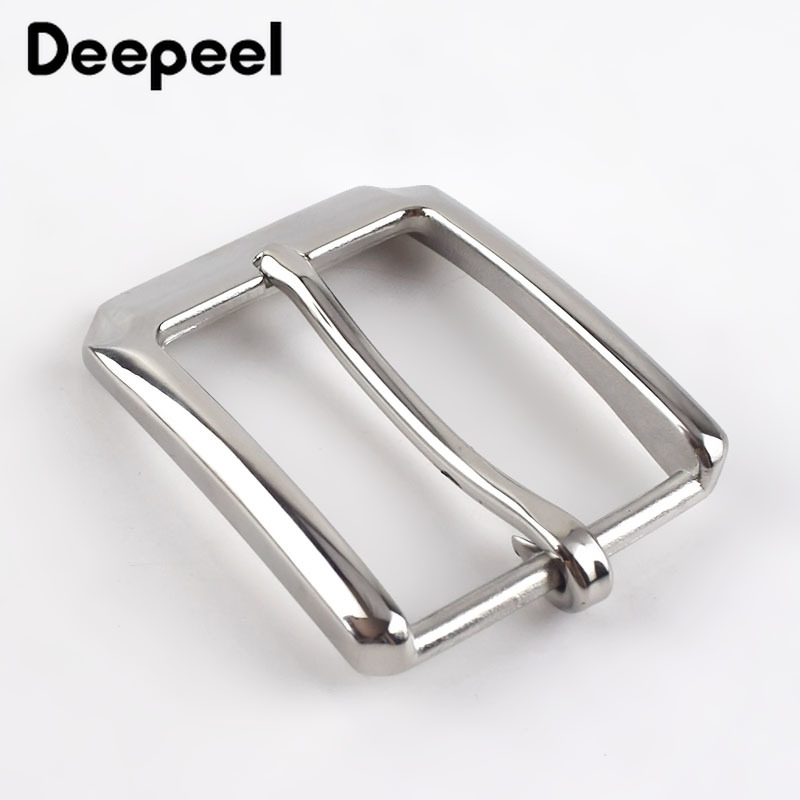 Deepeel 40mm High Quality Stainless Steel Pin Buckle Men Belt Buckle Head DIY Hand Leather Craft Leisure Decor Accessories AP191
