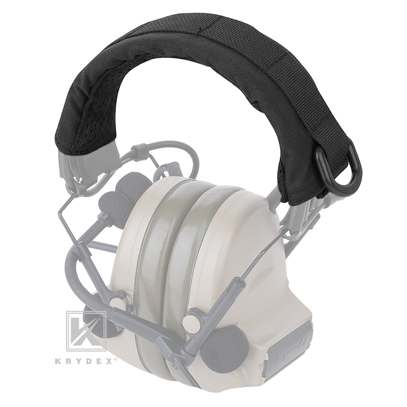 KRYDEX Modular Headphone Stand Protection Cover For HOWARD MSA Tactical Headband Earmuff Headset Stand MOLLE Protection Case BK