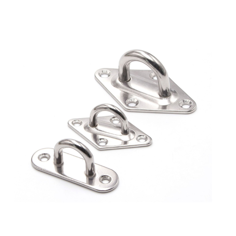 M5 M6 M8 Stainless Steel Lock Hasps Door Hinges Buckle Boat Buckle Shade Sail Accessories Eye Plate Diamond/Oval Shape 1pcs