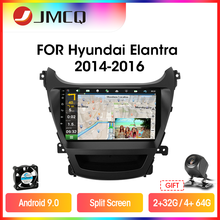 JMCQ 8-Core Carplay Auto Radio Für Hyundai Elantra 2014-2016 Multimidia Video-Player 2 din 4G wifi Android 9,0 4 + 64G Split-Screen