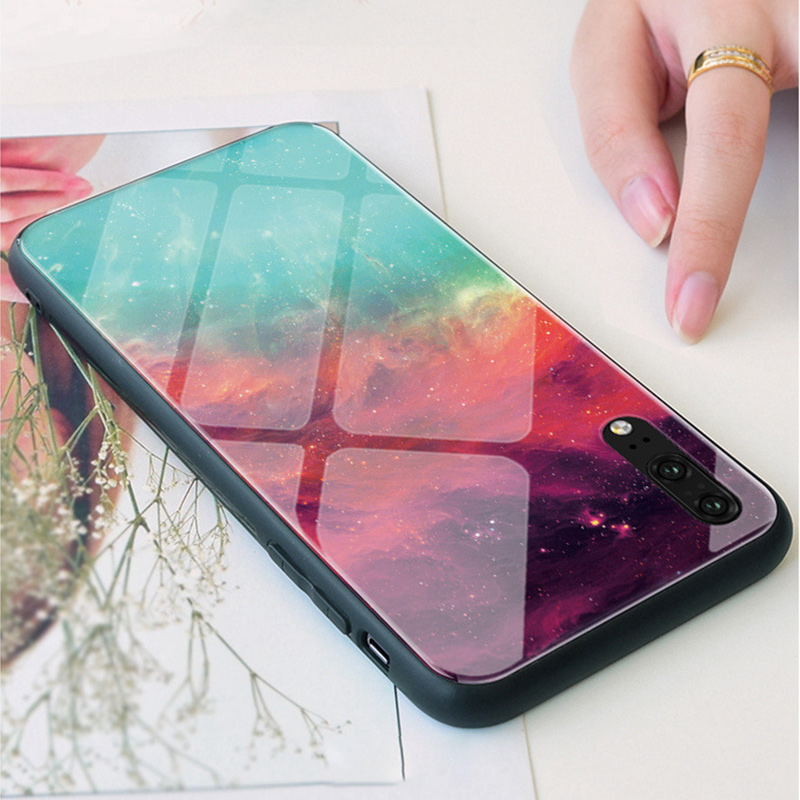 Luxury Tempered <font><b>Glass</b></font> <font><b>Case</b></font> For <font><b>Huawei</b></font> <font><b>P9</b></font> P10 Plus P20 P30 Pro P30 <font><b>Lite</b></font> Coque Colorful Cover Phone <font><b>Case</b></font> For <font><b>Huawei</b></font> P8 <font><b>Lite</b></font> 2017 image