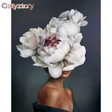 Gatyztory платье с цветочным узором для девочек diy картина