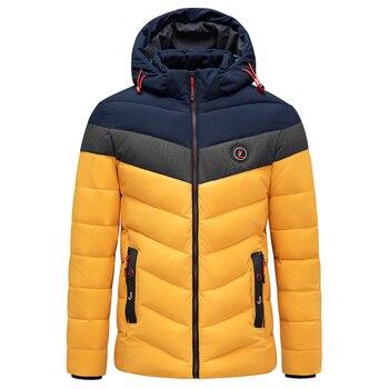 Men 2021 Winter Brand New Casual Warm Thick Waterproof Jacket Parkas Coat Men New Autumn Outwear Windproof Hat Parkas Jacket Men 3