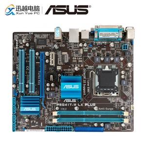 Image 1 - Asus P5G41T M LX زائد سطح اللوحة G41 المقبس LGA 775 ل النواة 2 ديو DDR3 8G SATA2 VGA uATX الأصلية المستخدمة اللوحة