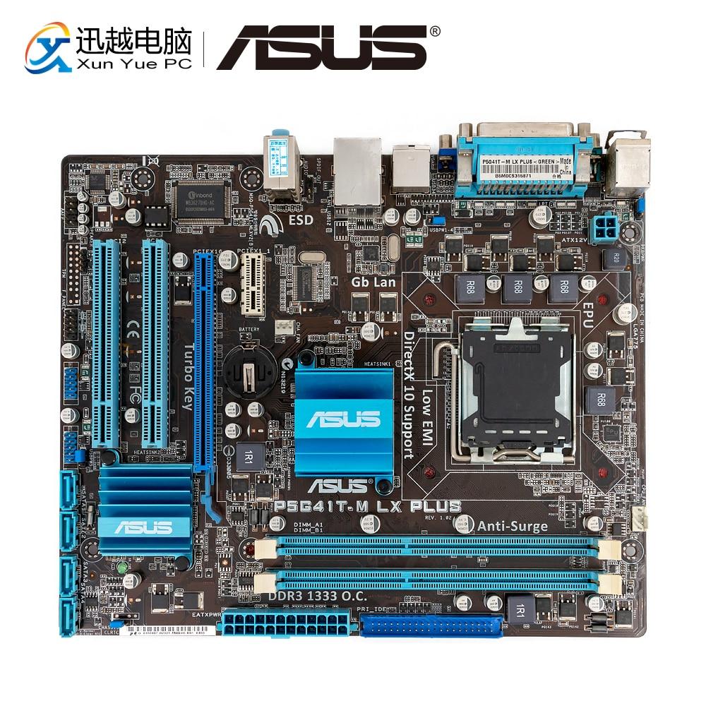 Asus P5G41T-M LX PLUS Desktop Motherboard G41 Socket LGA 775 For Core 2 Duo DDR3 8G SATA2 VGA UATX Original Used Mainboard