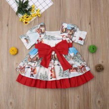 Kid Baby Girl Tutu Dress Clothes Xmas Costumes