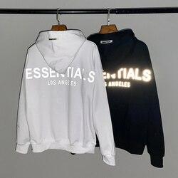 2020 nevoeiro essentials los angels 3m reflexivo impresso feminino hoodies moletom hiphop oversized masculino algodão hoodie pulôver