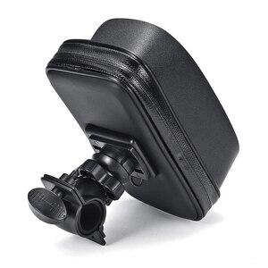 Image 4 - Водонепроницаемый мобильный телефон для велосипеда и мотоцикла, держатель для сумки, велосипедный чехол на руль заднего вида, крепление для телефона с GPS для iPhone 8P XS