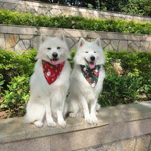 Рождественские регулируемые банданы для собак и кошек шарф с
