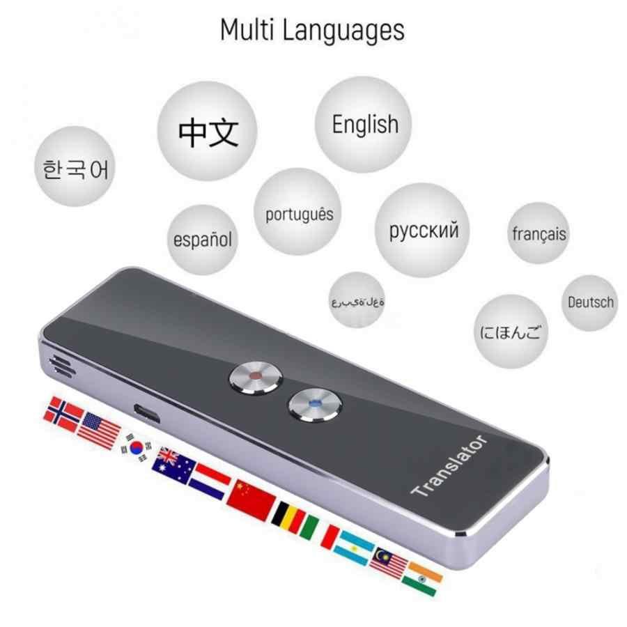 2.4G Smart Bluetooth Pocket Tolk Real Time Spraak Meertalige Vertaler Paars Gelijktijdige Vertaler