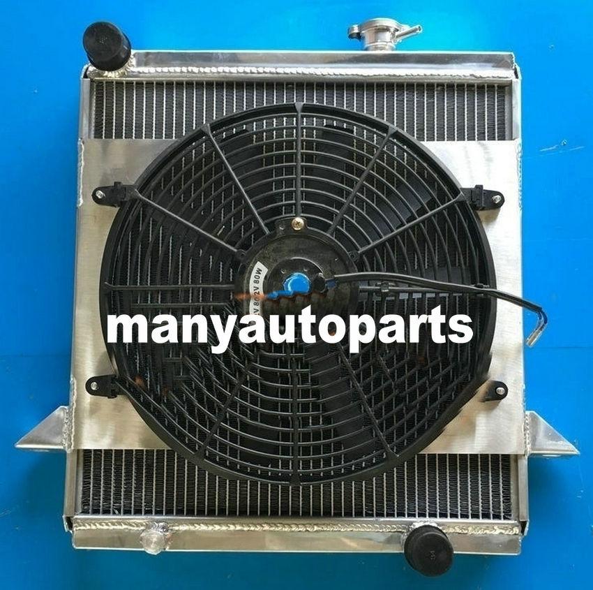 GPI Aluminum radiator /& fan for Triumph TR6 1969-1974//TR250 1967 1968