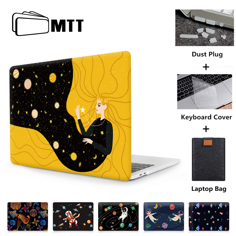 MTT Cartoon Outer Space Laptop Bag Case For Macbook Air Pro Retina 11 12 13 15 Inch With Touch Bar Funda 13.3'' Protective Shell