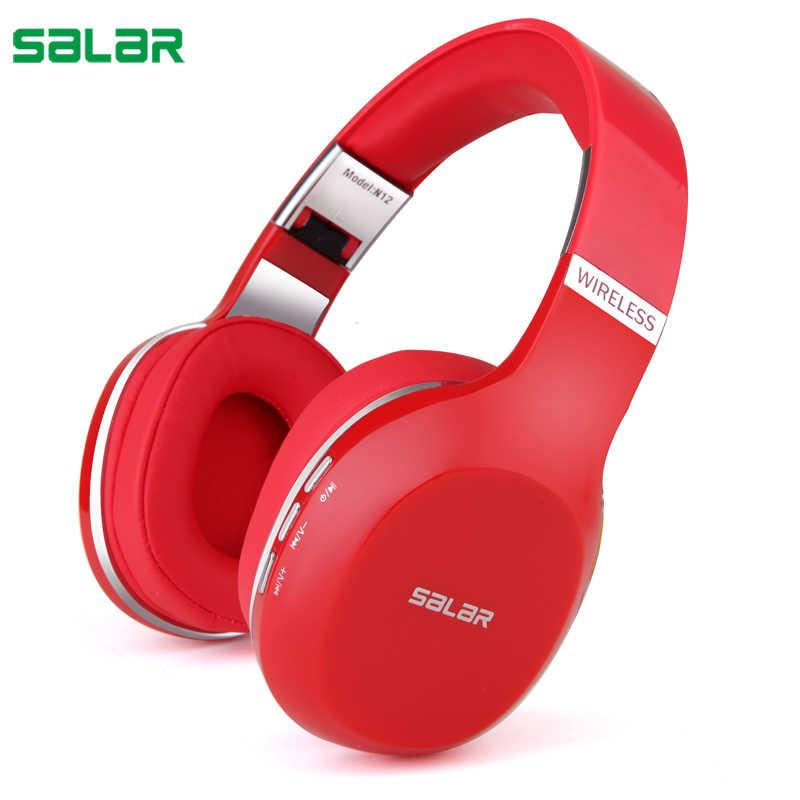 Salar N12 auriculares inalámbricos Bluetooth auriculares plegables auriculares con micrófono para ordenador teléfono móvil Mp3