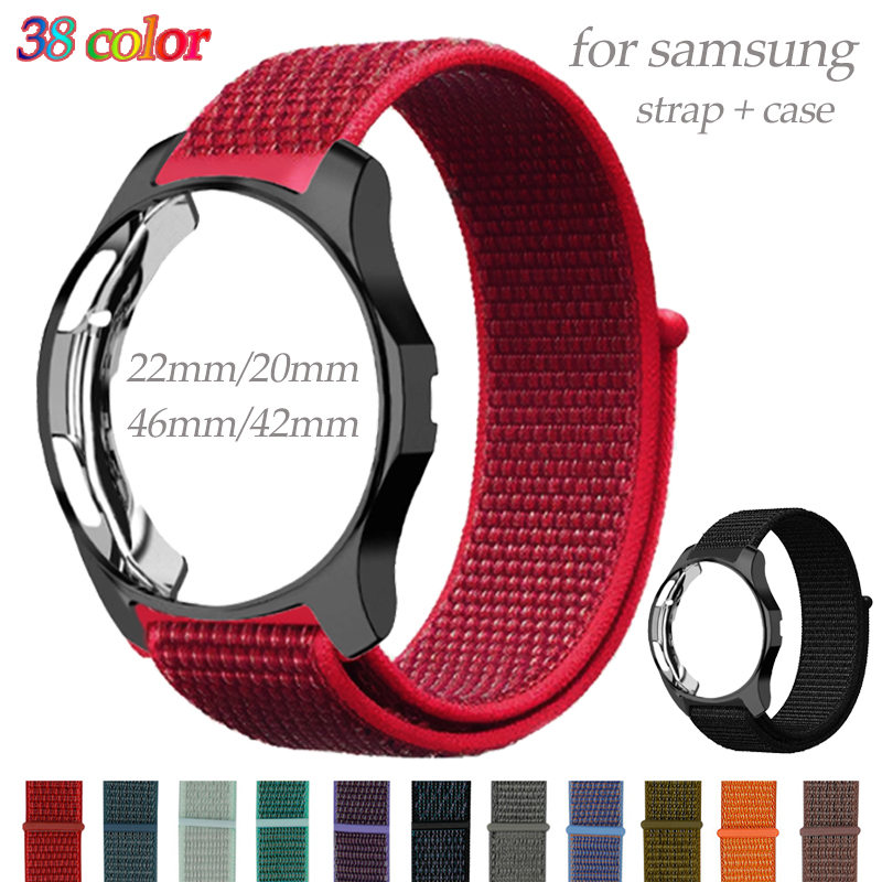 Band+Case For Samsung Gear S3 Frontier Galaxy Watch 46mm 42mm Strap 20mm 22mm Watch Band Nylon Bracelet Watch Accessories