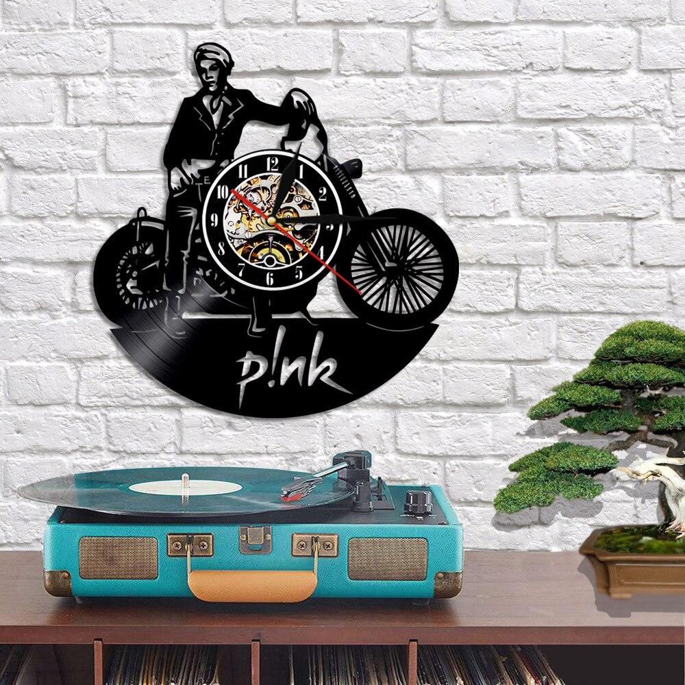 P!nk Vinyl Clock