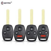 حافظة مفتاح التحكم عن بعد KEYYOU مزودة بقاعدة واقية من السيارة طراز Fob For Honda Accord 2003 2004 2005 2006 2007 Civic CRV مزودة بأزرار 2 2 + 1 3 3 + 1 4
