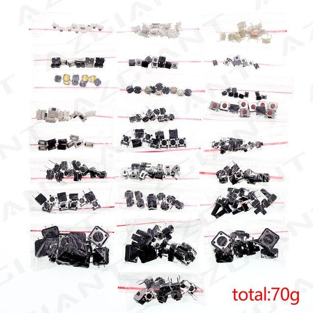 250ピース/バッグ25*10個車リモート制御ボタンスイッチボタンパッケージパッチタクトスイッチボタンパッケージ4*4 3*6 3*4ボタン