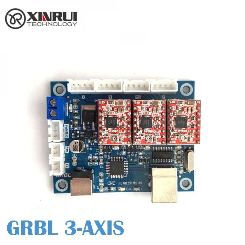 GRBL 0,9 oder 1,1 Controller Control Board 3 Achse control board Doppel Y Achse USB Fahrer Board Für CNC Laser stecher