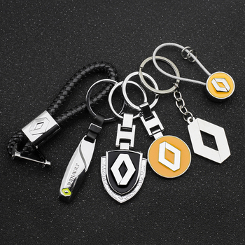 3D Metal+Braided rope Car Styling Keychain Key Chain Key Rings For Renault duster megane 2 logan renault clio Car accessories car tire valve caps case for renault duster megane 2 logan renault clio car badge 4pcs set