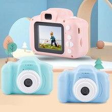 Mini cámara fotográfica para niños, Juguetes educativos, cámara Digital de regalo de cumpleaños para bebés, 1080P