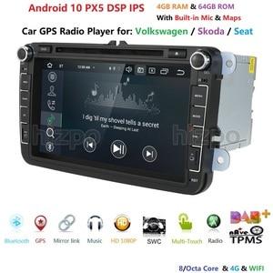 Image 3 - 8 inch Android 10 RAM 4GB ROM 64GB Auto Multimedia Player Player für VW Golf 5 Caddy Passa b6 Sitz Leon GPS WIFI Auto DVD