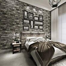 Papel pintado texturizado de ladrillo Vintage rollo de papel tapiz de efecto 3D no tejido Loft papel de pared para dormitorio Sala sofá TV Fondo Café Bar
