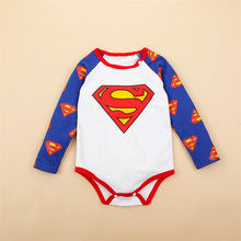 New Brand Baby Boys Cartoon Superman Romper Newborn Bebe Infant Long Sleeve Cotton Jumpsuit Spring Autumn Toddler Clothes Set