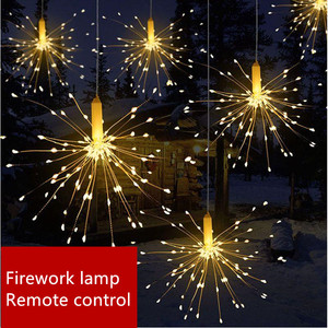 120leds Fireworks Garland Lights Remote Control Warm White Fairy Lights Bar Party Christmas New Year Wedding Decorative Lights