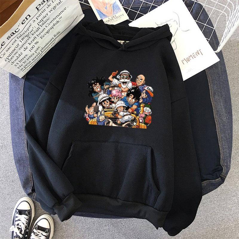 Japanese Anime Printed Hoodies 2021 Spring Autumn Long Sleeve Hoodie Women Cartoon Graphic Streetwear Sweatshirts Female Tops 9