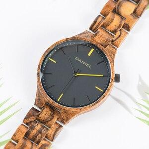Image 4 - Cuatomize Naam BOBO VOGEL Hout Horloge Mannen Top Luxe Merk Horloges Mannelijke Klok in Houten geschenkdoos huwelijk gift