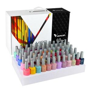 Image 4 - 2020 new 60 fashion color Venalisa gel polish enamel vernish color gel polish for nail art design whole set nail gel learner kit