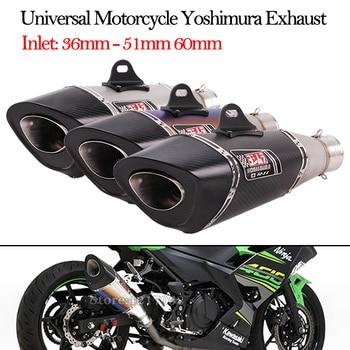 Inlet 36mm 51mm 60mm Universal Motorcycle Yoshimura Exhaust Pipe Escape Modified Muffler For Ninja250 Ninja400 CBR954 CBR1000RR