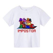 Crianças de verão de manga curta camiseta de algodão puro desenhos animados adolescente meninos e meninas casual topos crianças roupas de rua 4t-14