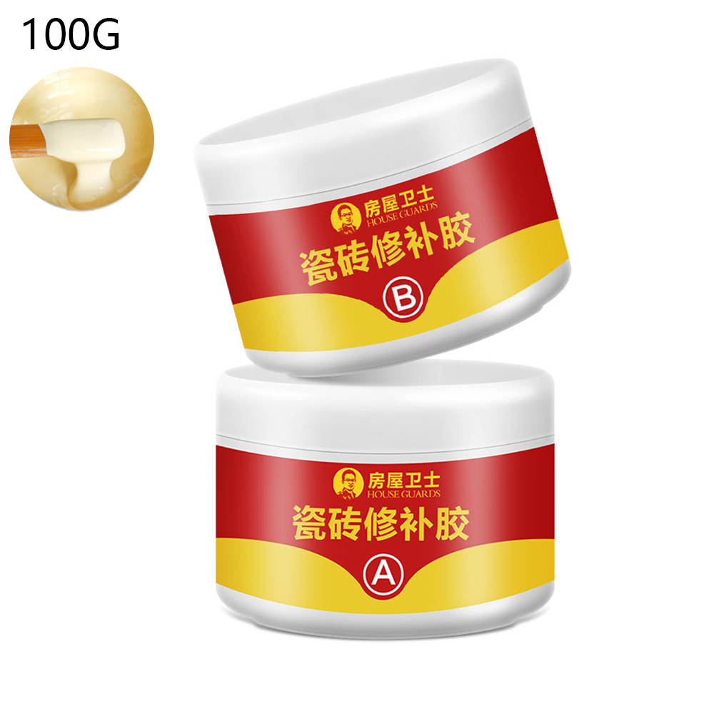 100g Beige Color Tile Repair Agent Ceramic Paste Floor Tile Adhesive Strong Adhesive Marble Super Fix Repair Home Floor Tiles