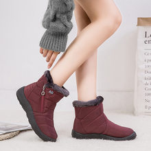 Fashion Flat Women Snow Boots Warm Fur Female Winter Waterproo Boots Women Ankle Boots Outdoor Shoes Women Bota H280(China)