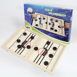 Mesa de madeira estilingue puck interação pai-filho hóquei de mesa de gelo playinng jogo de tabuleiro de xadrez brinquedo de mesa para presentes das crianças