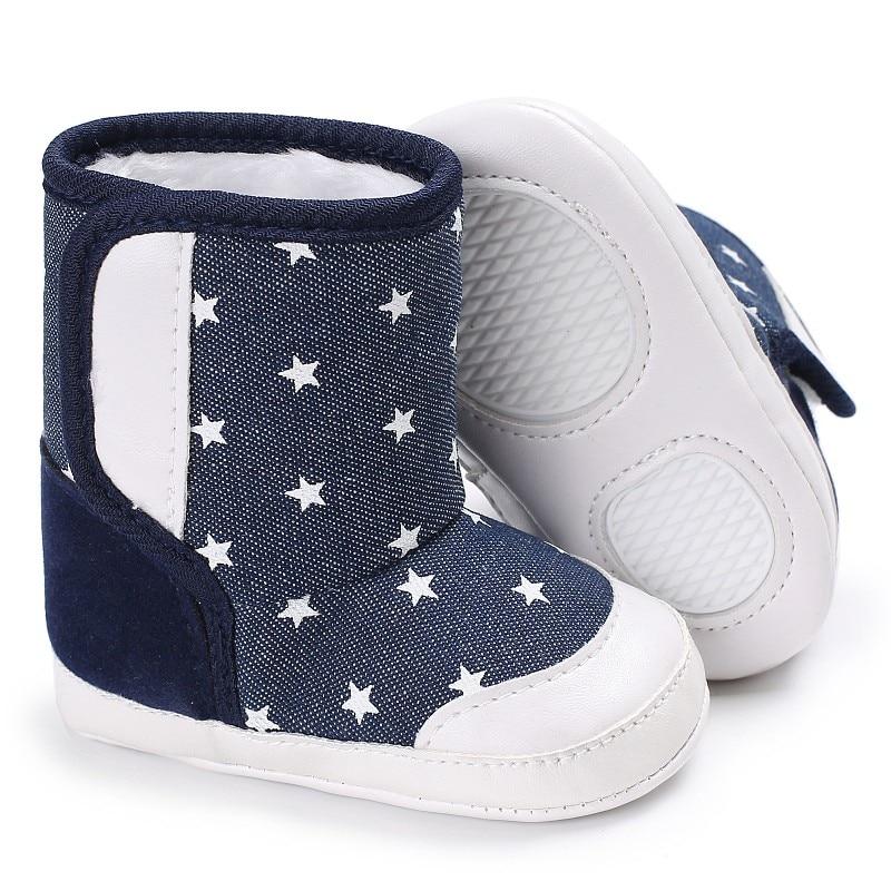 Zapatos de bebé de invierno niños niñas primeros caminantes bebés zapatos calientes lona niñas cuero niño bebé botines moda