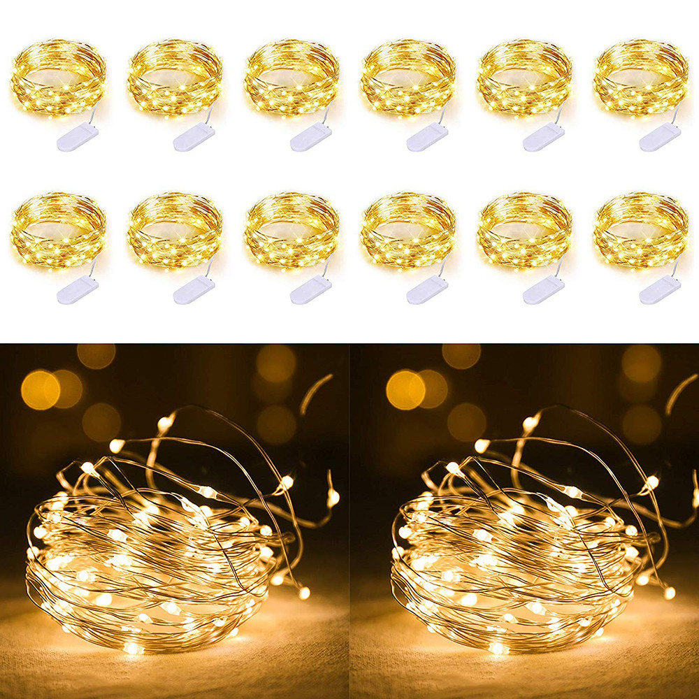 1M 2M 3M 5M Copper Wire LED String Lights Holiday Lighting Waterproof Christmas Garland For New Year Wedding Party Decoration
