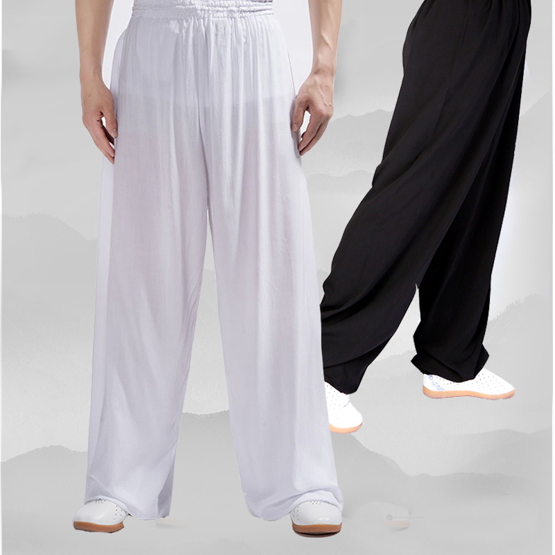 Yiwutang Cotton Chinese martial arts and Tai chi pant-uniform Wushu clothing and Kung fu pants for men or women 3-color Exercise